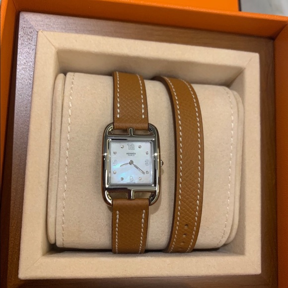 Hermes cape cod watch diamond with mother-pearl